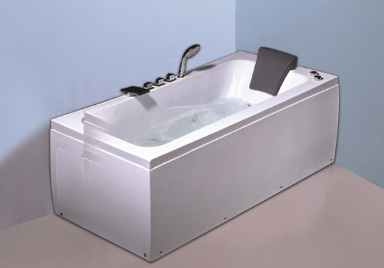 China 6 Big Water Jets Bubble Bath Jetted Tub , Heated Whirlpool Tub With SS Frame factory