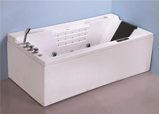 China Hydromassage Jacuzzi Whirlpool Bath Tub With 1500w Heater 4 Back Jets factory