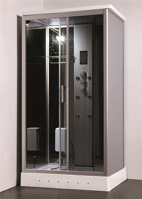 China Residential Steam Shower Bath Cabin Multi Jet Shower Enclosures With FM Radio Function distributor