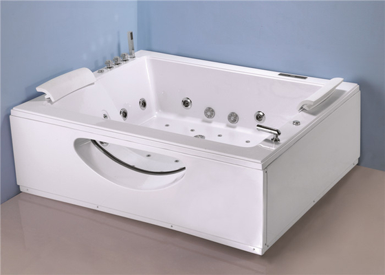 China Big Jacuzzi Whirlpool Bath Tub T Shape Water Inlet With Cold / Hot Water Switch factory