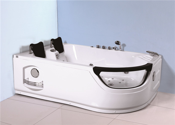 China Indoor Jacuzzi Soaking Tub , Stand Alone Whirlpool Tub With Computer Controller factory