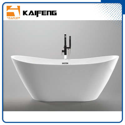 China 1800mm Long Oval Freestanding Tub With Pop - Up Drain Customized Color distributor