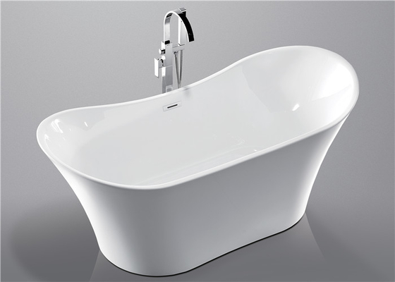 China Deep Soaking Acrylic Oval Freestanding Tub For Small Spaces Hand Control distributor