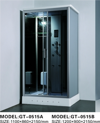 China Durable Walk In Steam Shower Cubicle , Jacuzzi Steam Shower Cabins With Seat distributor