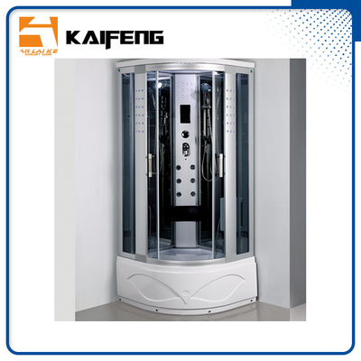 China Luxury Room Steam Shower Bath Cabin Shower Spa Units With Spa Tub Sector Shape distributor