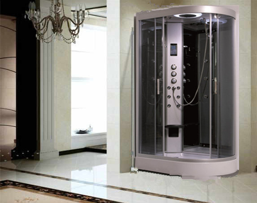 China Large Quadrant Shower Cubicle Shower Corner Unit With Sector Shape Sitting Bathtub distributor
