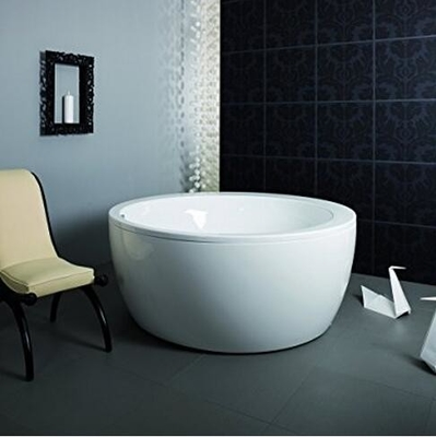 China Eco - friendly Freestanding Round Tub / Deep Bathtubs For Small Bathrooms distributor