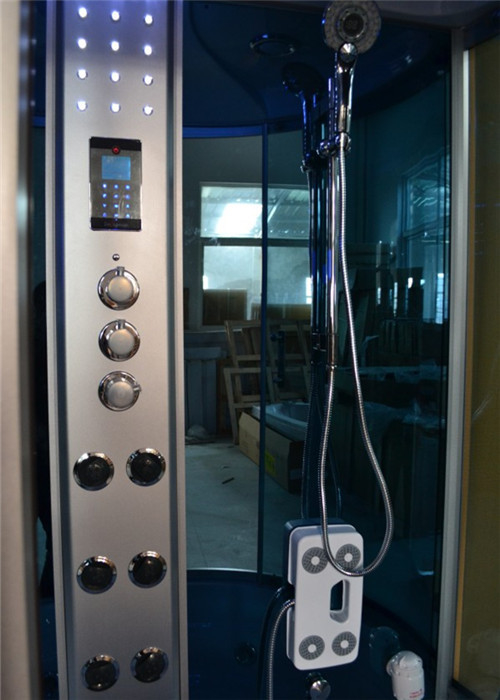 Large Steam Shower Tub Combo Jacuzzi Shower Stalls With 6 Directional Hydrotherapy Jets